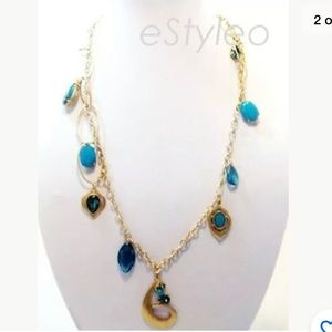 Jessica Simpson Long Chain Statement Necklace 28''